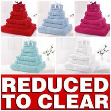 * REDUCED * 10 PIECE BATHROOM BALE TOWEL SET SOFT TERRY BATH 100% COTTON TOWELS