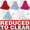 * REDUCED * 9 PIECE BATHROOM BALE TOWEL SET SOFT TERRY BATH 100% COTTON TOWELS