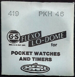 GS Crystals - Flexo Lo-Dome for Pocket Watches and Timers - Various Sizes