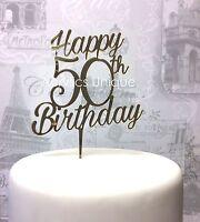 50th Birthday acrylic cake topper celebration topper 18 20 30 40 60 70 80