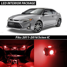 2011-2016 Scion tC Red Interior LED Lights Package Kit
