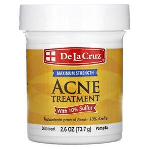 De La Cruz, Sulfur Ointment, Acne treatment, Maximum Strength, 2.6 oz(73.7g)