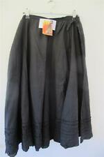 Free Post Womens Size 20 Black Cotton Skirt - Sacred Collections
