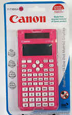 CANON SCIENTIFIC PINK CALCULATOR WITH LARGE 4 LINE LCD DISPLAY F-718SGA  CASE (Q