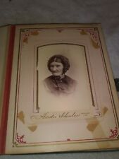 VINTAGE 1880 PHOTO ALBUM WITH PHOTOS & TINTYPES