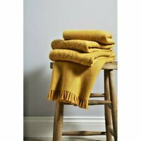 Stunning Luxury Christy Lace Ochre Throw Blanket NWT 130cm x 170cm RRP £120