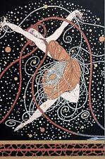 Erte Print 1987 ONDEE RAIN SHOWER BALLET DANCER BALLERINA Art Deco Illustration