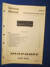 Marantz SR-82U K Receiver Service Manual Factory Original The Real Thing