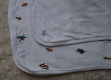 Ralph Lauren Polo Bear Baby Blanket Camping Fishing Hiking Tent Campfire White