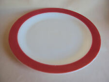 "VINTAGE MILK GLASS PINK / WHITE SERVING PLATE 12.25"" DIAMETER"