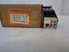 New Siemens-Allis Olr0040 Overload Relay Adjust.Range .25-0.4 Amp