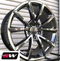 "Jeep Grand Cherokee Wheels 20"" inch 20x10"" SRT Hyper Silver Dark Rims 5x5"" +50"