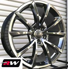 "Jeep Grand Cherokee Wheels 20"" inch 20x10"" SRT Hyper Silver Dark Rims 5x5"" +50"
