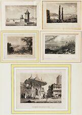5 Stahlstiche um 1830/1840 Türkei Kleinasien Konstantinopel Bosporus Izmir