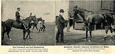 Herrenreiter * Rennpferde der Saison 1900 * Bilddokument I.