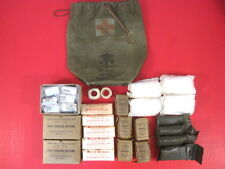 post-Vietnam US Army Tank or Artillery Gun Crew First Aid Kit - Dated 1976  RARE
