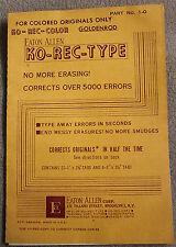 Vintage KO-REC-TYPE Typewriter Correction Paper for Goldenrod Colored Originals