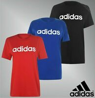 Ladies Adidas Short Sleeves Crew Linear Boyfriend QT T Shirt Sizes from 8 to 26