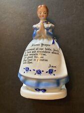 New ListingVintage 1958 Enesco Blue Ceramic Lady Mother In The Kitchen Napkin Holder Japan