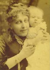 CDV: Proud SMILING MOTHER Cuddles Her INFANT NEXT TO HER CHEEK, New York, N.Y.