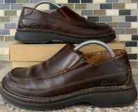 Clarks Mens Brown Oily Leather Casual Slip On Loafers Active Air 30162 8.5 M