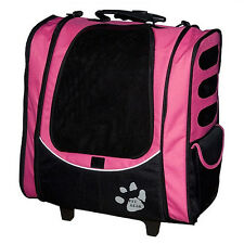 Pet Gear I-GO2 Escort Pet Carrier Pink Rolling Carrier Backpack Tote