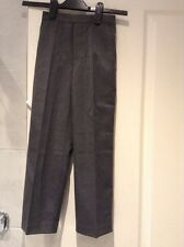 BNWT Boys Grey School Trousers Aged 7 Years With Adjustable Waist