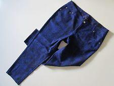 NWT Lane Bryant Purple Blue Snakeskin Python Print Skinny Stretch Jeans 20