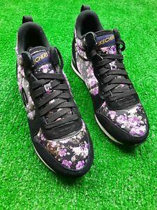 Skechers Women Shoes Hollywood Rose Retrospect Purple Floral Size Uk 7
