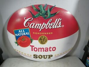 Vintage Campbell's Tomato Soup Cardboard Advertising Sign Large