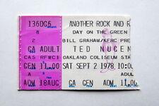 AC/DC TED NUGENT JOURNEY BLUE OYSTER CULT RARE TICKET SEPT 2ND 1978 CA BON SCOTT