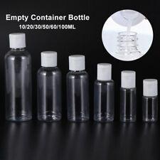 Plastic Clear Shampoo Bottle Lotion Jar Refillable Empty Container Bottle