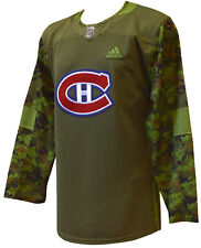 Montreal Canadiens adidas NHL Veterans Day Camo Jersey M