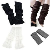 Mode Feminine Hiver Tricot Crochet Guetres Chaussette Noir H8Z4