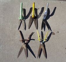 5 Aged Metal Pruning Shears yard garden plant clippers cutters green vtg  Wiss