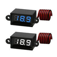 2 PCS Waterproof Digital DC Voltmeter Tester Display Voltage Test Meter 3V-30V