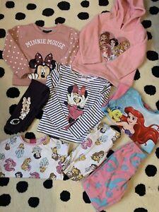 Girls Disney Bundle Pyjamas Minnie Princess Clothes Outfits 3-4