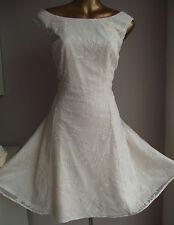 BN MONSOON PRIMROSE LACE IVORY BRIDAL DRESS SUMMER WEDDING 18 50's PROM £99
