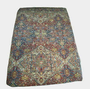 Vintage Ralph Lauren Oxfordshire Queen Fitted Sheet Persian Rug Cotton USA