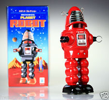 MS430 Tin Robot Planet Robot Vintage Reproduction NEW Windup toy RED NOSTALGIC