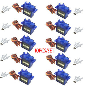 10X Mini Micro SG90 Servo Motor 9G Für RC Hubschrauber Flugzeug Arduino Control