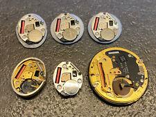 FOR PARTS or REPAIR LOT of 6 ETA Quartz Watch Movements