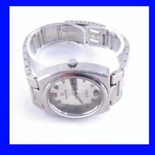 Chunky Steel Retro Waltham Day Date Silver  Dial Auto 25 Jewel Wrist Watch 1970