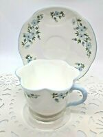 "VINTAGE: CROWN STAFFORDSHIRE ""ROCK GARDEN"" FINE BONE CHINA CUP & SAUCER ~ENGLAND"