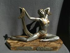 sculpture art deco LIMOUSIN 1920/30 statue femme danseuse orientale dancer woman