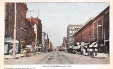 Davenport Iowa~Dirt 2nd St~Brown's Business College~The Hub~Dr Carroll, DDS 1905