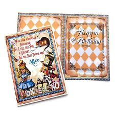 NEW Alice in Wonderland UN Birthday Card-Vintage Retro Children-Cheshire Cat