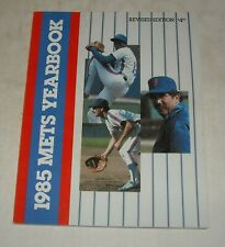 1985 NEW YORK METS BASEBALL YEARBOOK MAGAZINE KEITH HERNANDEZ GARY CARTER