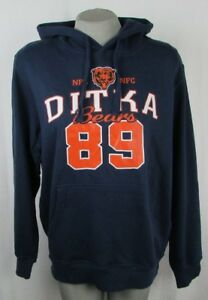 Chicago Bears #89 Mike Ditka GIII Navy Blue Large Pullover Hoodie NFL