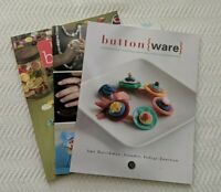 Button Craft Books Lot of 3 Jewelry Accessories And More Unique Projects